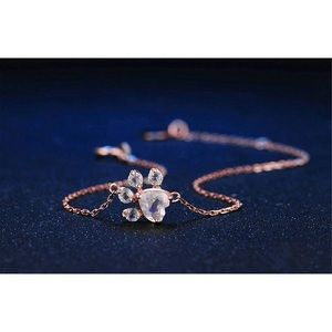 Jewelry - Rose gold cat dog paw bracelet
